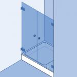 Type 3: Douchewand, dubbele deuren