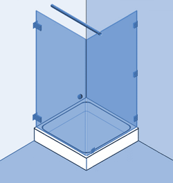 Type 4: Hoekopstelling, vast paneel en deur